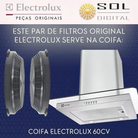 Imagem de Kit com 2 Filtros de Carvão Ativado para Coifa Electrolux 60CV