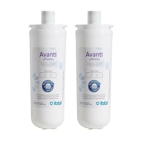 Imagem de Kit com 2 Filtros Refil Avanti para Purificador de Água IBBL