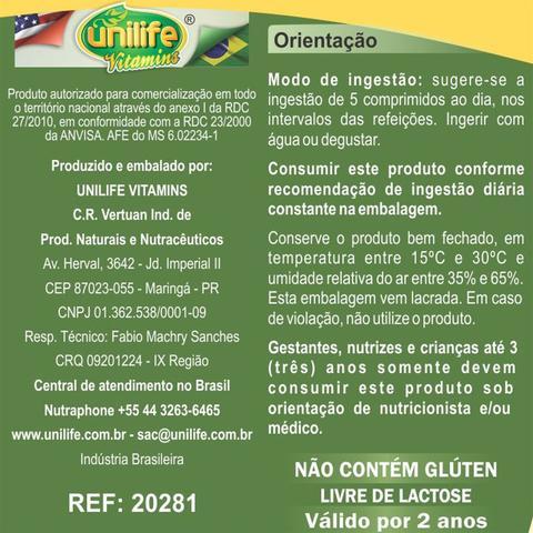 Imagem de Kit com 2 Frascos Gengibre Com Chá Verde Unilife 120 Comprimidos 400mg