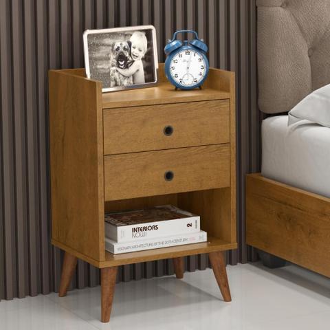 Imagem de Kit com 2 Mesa de cabeceira Retrô Bento - Freijó - RPM Móveis