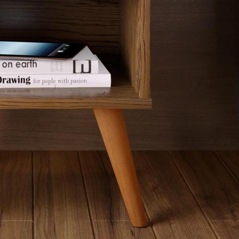 Imagem de Kit com 2 Mesa de cabeceira Retrô Decore 1 Gaveta - Freijo - RPM Móveis