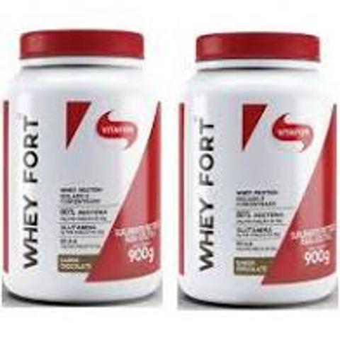 Imagem de Kit com 2 Whey Fort 900g Chocolate Vitafor
