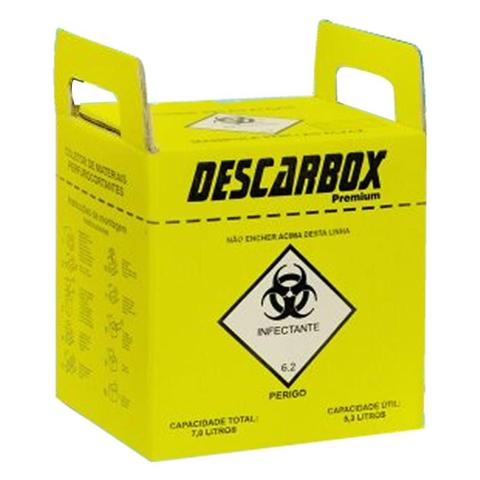 Imagem de Kit com 20 und Coletor de Material Perfuro Cortante Descarbox 03lts