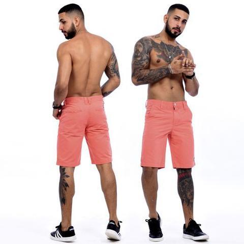 Imagem de Kit Com 3 Bermudas Sarja Masculinas Coloridas Baratas - Icari Fashion