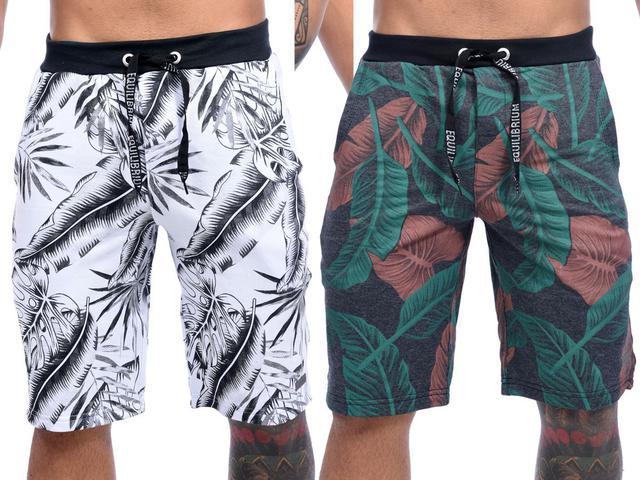 Imagem de Kit Com 3 Bermudas Shorts Moletom Masculinas Premium