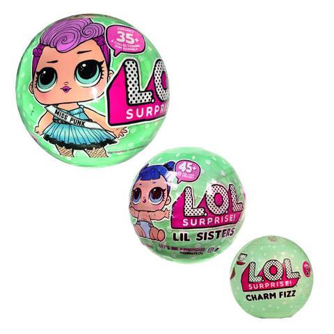 Imagem de Kit com 3 bonecas Lol - Lil e Charm Fizz CANDIDE 8900A