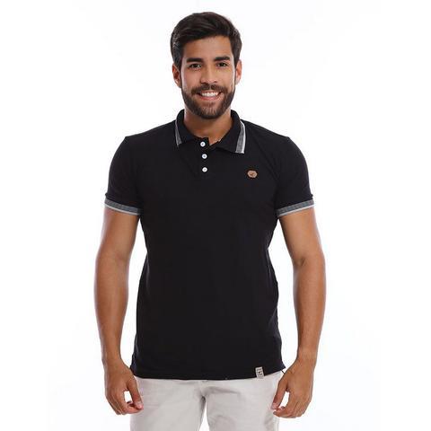Imagem de Kit com 3 Camisas Polo Masculinas de Malha Piquet