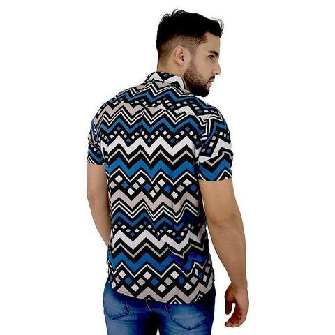 Imagem de Kit Com 3 Camisas Sociais Masculinas Floridas e Listradas Bamborra