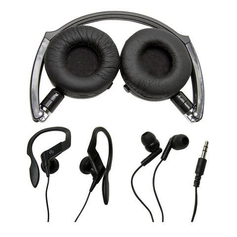 Imagem de Kit com 3 modelos de fones de ouvido: Headphone, auricular e earphone