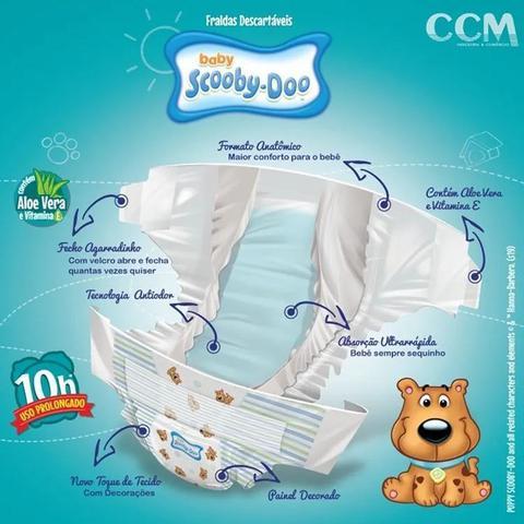 Imagem de Kit Com 3 Pacotes Fraldas Scooby-doo Mega  Revenda Tam M Com 126 Unidades