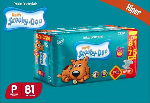 Imagem de Kit Com 3 Pacotes Fraldas Scooby-doo Revenda Barato P