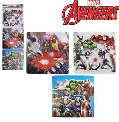 Imagem de Kit com 3 Quebra Cabeça Avengers Vingadores 48 Peças