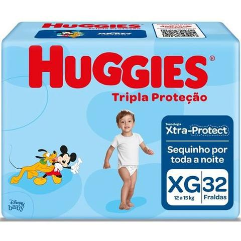 Imagem de Kit com 4 Fralda Descartável Infantil Turma Da Mônica XG com 128 Unid.