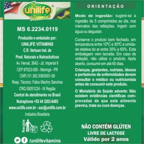 Imagem de Kit com 4 Frascos de Chá verde Comprimidos Biodream Unilife  120 comprimidos 400mg
