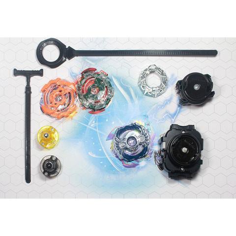Imagem de Kit com 4 Peões Beyblade Metal Burst + 2 Lançadores + 2 Cordinha S3