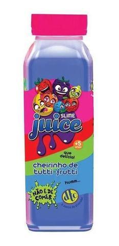 Imagem de Kit Com 4 Slime Juice Suco Frutas Cheirinho 265g Dtc 5207