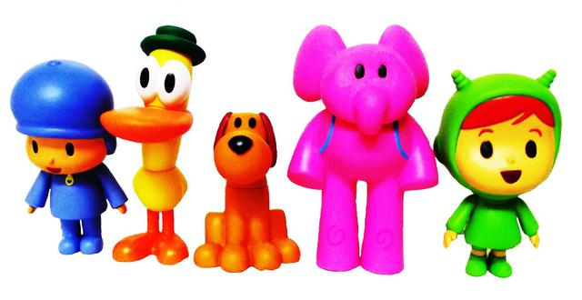Imagem de Kit com 5 bonecos da Turma do Pocoyo