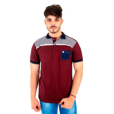 Imagem de Kit com 5 Camisas Gola Polo Blitz Masculinas Listradas