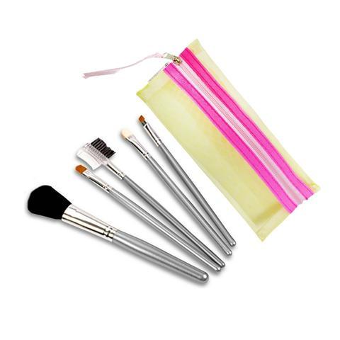 Imagem de Kit com 5 Pincéis de Maquiagem Color Beauty Care Ana Hickmann Amarelo - Relaxbeauty RB-CP4149