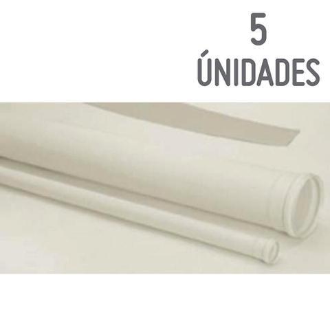 Imagem de Kit com 5 Tubos Esgoto Branco 50mm X 3m