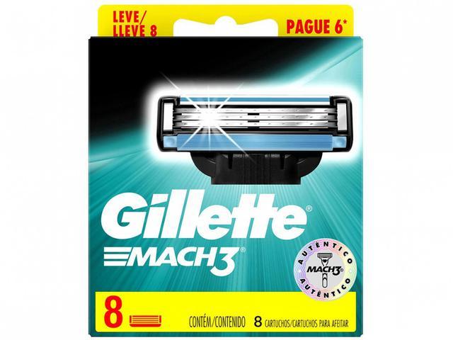 Imagem de Kit com Aparelho de Barbear Gillette Mach3