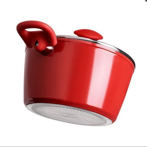 Imagem de Kit Com Fundo De Indução Ceramic Life Optima 4 Peças - Carmin