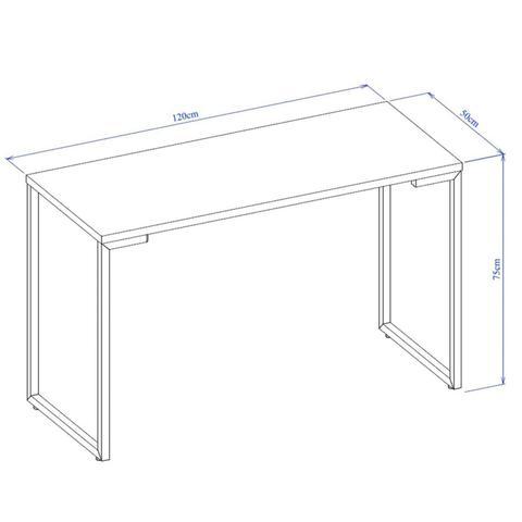 Imagem de Kit com Mesa De Escritório Escrivaninha Porto 1200x500mm e Cadeira de Escritório Secretária Giratória Qualiflex