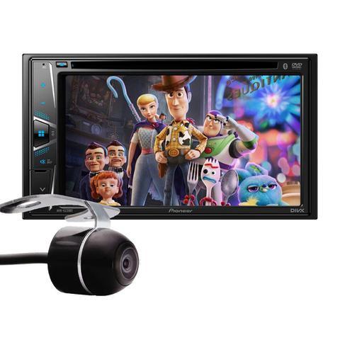Imagem de Kit Combo DVD Pioneer AVH-G228BT + Moldura de Painel 2 Din + Câmera de Ré Nissan Kicks Versão S