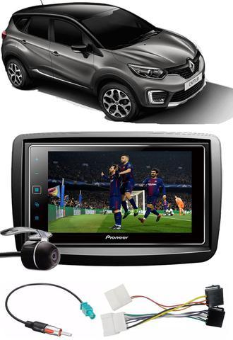 Imagem de Kit Combo DVD Pioneer SPH-DA138TV + Moldura + Chicotes + Câmera de Ré Renault Captur