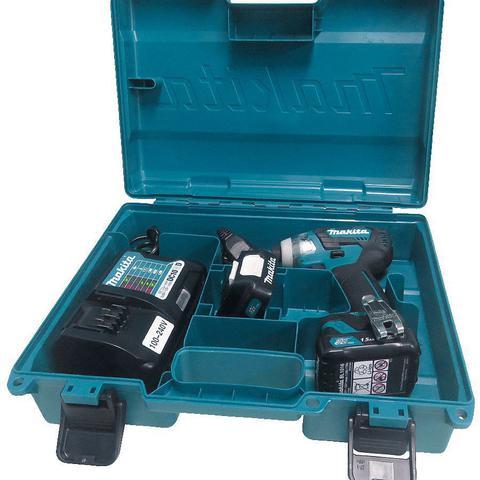 Imagem de Kit Combo Parafusadeira de Impacto a Bateria 12V + Maleta