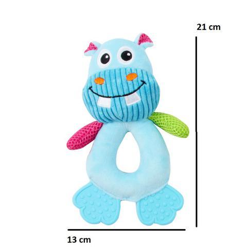 Imagem de Kit Comedouro Automático Simples C/ Hipopótamo Pelúcia Pawise