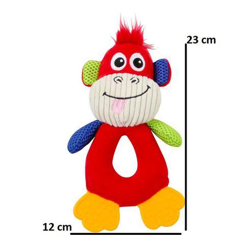 Imagem de Kit Comedouro Automático Simples C/ Macaco Pelúcia Pawise