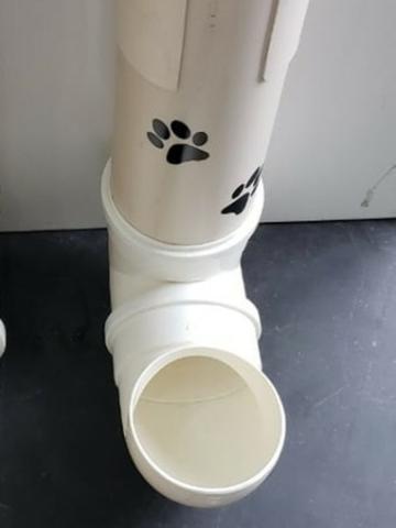 Imagem de Kit comedouro e bebedouro pvc cano para cães e gatos