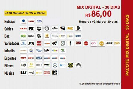 Imagem de Kit Completo c/Receptor Claro  Recarga Tv Hd Alta Definição