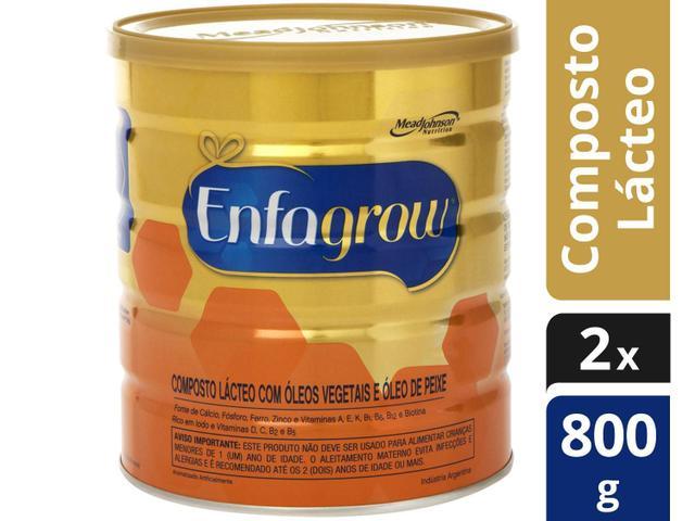 Imagem de Kit Composto Lácteo Enfagrow 800g 2 Unidades