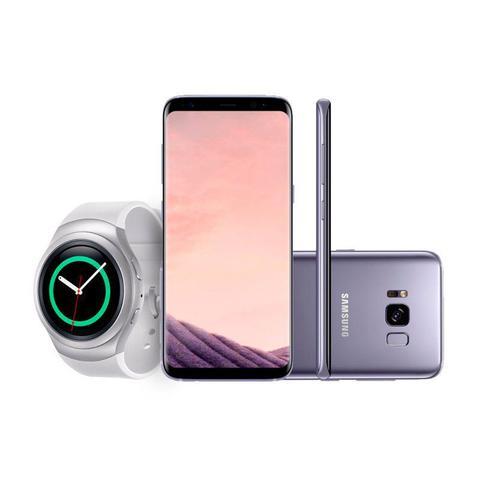Imagem de Kit: Compre Samsung Galaxy S8 Plus, Ganhe 50% de Desconto no Smartwatch e Leve Fone Sem Fio Level Ac