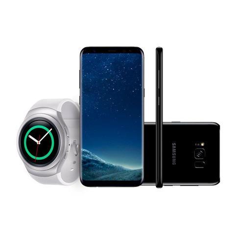Imagem de Kit: Compre Samsung Galaxy S8 Plus, Ganhe 50 de Desconto no Smartwatch e Leve Fone Sem Fio Level Ac