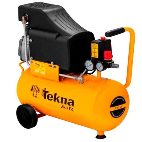 Imagem de Kit Compressor de Ar 24L CP8525 Tekna + Engraxadeira Pneumática G1182 Gamma