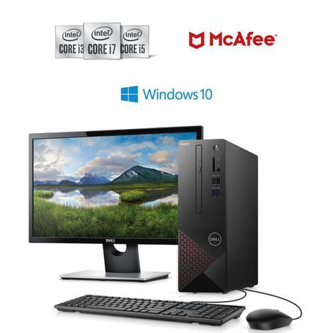 Imagem de Kit Computador Desktop Dell Vostro 3681-M10M 10ª Geração Intel Core i3 4GB 1TB Windows 10 + Monitor 21