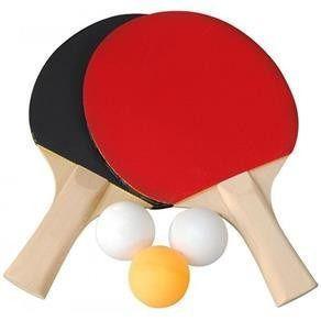 Imagem de Kit Conjunto Ping Pong Tênis De Mesa Raquetes Bolinhas Rede