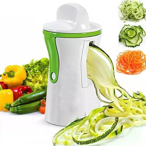 Imagem de Kit Cortador Legumes Fatiador Frutas Verduras Batata Descascador Espiral Picador