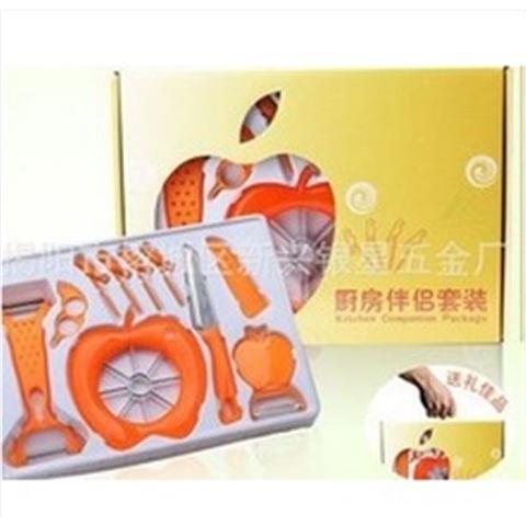 Imagem de Kit cortador ralador fatiador descascador de frutas, legumes, verduras, laranja, maça completo com 9