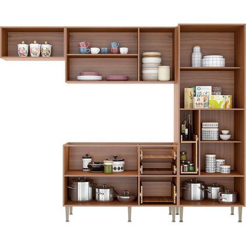 Imagem de Kit Cozinha 04 Peças 5453 Calábria - Balcão Pia Sem Tampo - Multimóveis