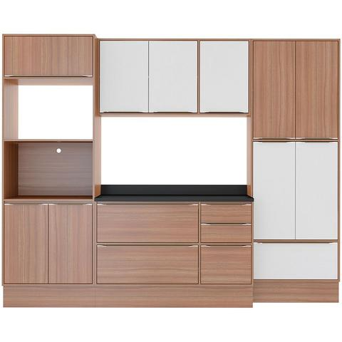 Imagem de Kit Cozinha 08 Peças 5452R Calábria - Balcão Pia Com Tampo - Multimóveis