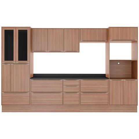 Imagem de Kit Cozinha 11 Peças 5451R Calábria - Balcão Pia Com Tampo - Multimóveis