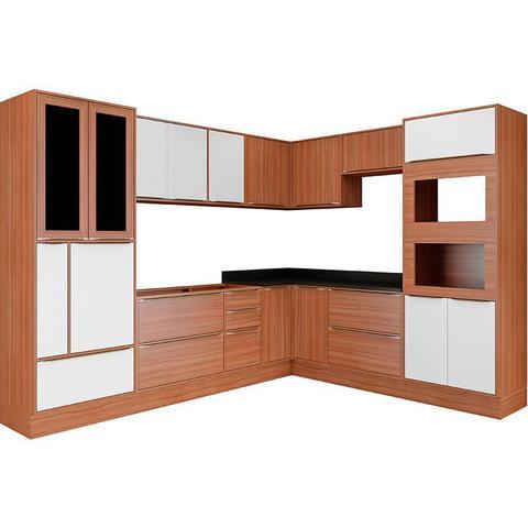 Imagem de Kit Cozinha 14 Peças 5461RMF Calábria  Balcão Pia Sem Tampo - Multimóveis