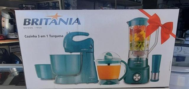Imagem de Kit Cozinha 3 em 1 BRITÂNIA BKT31AZT Turquesa 220V