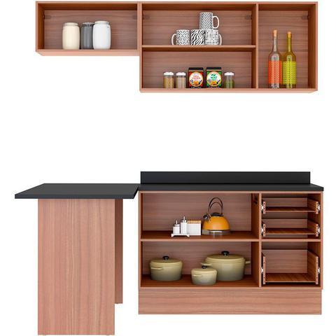 Imagem de Kit Cozinha 5460R Calábria Balcão Pia C/ Tampo - Multimóveis