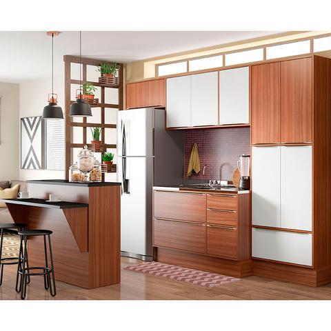 Imagem de Kit Cozinha 7 Peças 5464R Calábria  Balcão Pia Sem Tampo - Multimóveis