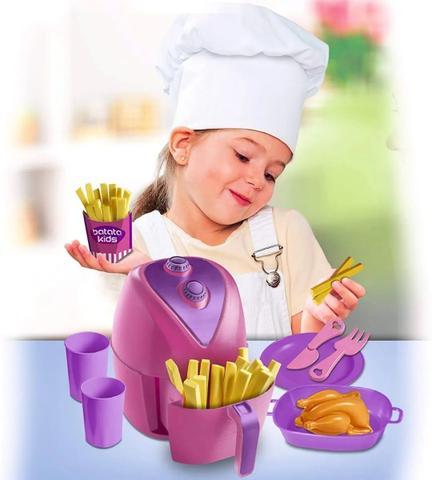 Imagem de Kit Cozinha Air Fryer Happy Food Com 12 Peças Zuca Toys